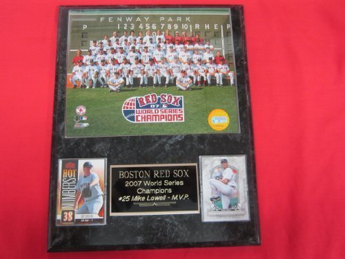 2007 Red Sox World Series Champions 2 Card Collector Plaque #2 w/8x10 Team Photo