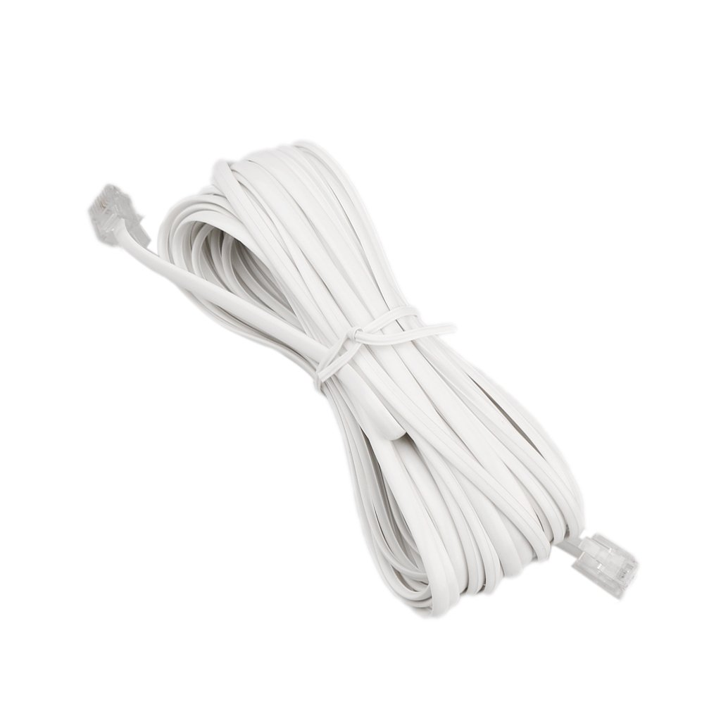 Dovewill White Telephone Extension Cable Wire Cord Phone Wiring An Line 6p2c Assorted Sizes