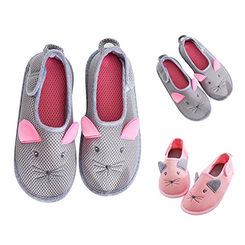 Edema Gray Pregnant Diabetic Shoes amp; Slippers Women Breathable Mouse House Nonslip BUYITNOW WPUgwpqP