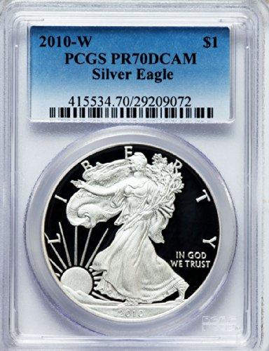 2010 W American Silver Eagle Dollar DCAM PCGS PR70