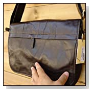 Genuine Real Leather Shoulder Bag Messenger Man Briefcase 14 Vintage Handbag New