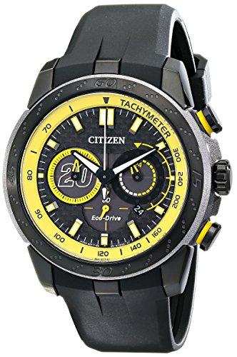 Citizen Eco-Drive Men's 'Matt Kenseth Ecosphere Limited Edition' Black Stainless Steel Watch (Model: CA4159-03E)