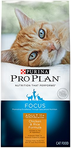 Purina Pro Plan Dry Cat Food, Focus, Adult 11 Plus Chicken & Rice Formula, 7-Pound Bag, Pack of - Formula Mature