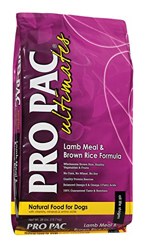 Midwestern Pet Foods PRO PAC Ultimates Lamb Meal and Brown Rice Natural Formula Dry Dog Food, 28-Pound Bag