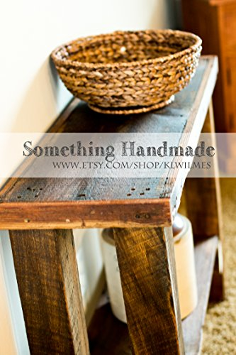 Barn wood Sofa or console table made from 1892 reclaimed barn wood by Something Handmade / Better Dressed Child (Image #3)