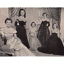 Phyllis Kirk Debra Paget Debbie Reynolds Jean Hagen Nancy Olson original clipping magazine photo 1pg 9x12 #Q7319