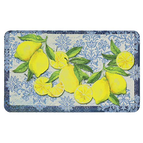 Shaw Rugs Indian Rug (Mohawk Home Classy Italian Lemons Dri- Pro Comfort Mat (1'6 x 2'6) l Mat will Add Both Beauty and Brilliant Design to your Kitchen)