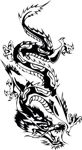Thatvinylplace Oriental Dragon Chinese Dragon Vinyl Sticker
