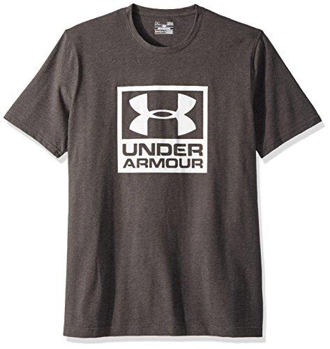 Under Armour Men's Branded Box Short Sleeve Athletic Shirt, XX-Large, Charcoal Medium Heather/White