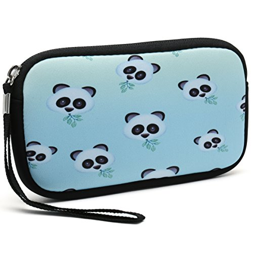 - Unisex Portable Washable Travel All Smartphone Wristlets Bag Clutch Wallets, Change Purse,Pencil Bag,Cosmetic Bag Pouch Coin Purse Zipper Change Holder With Strap (Nice Pandas)
