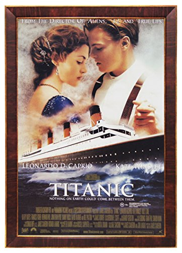 Titanic Leonardo Dicaprio 24x36 Dark Red Wood Framed Movie P