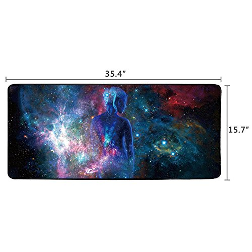 Cmhoo XXL Professional Large Mouse Pad & Computer Game Mouse Mat (35.4x15.7x0.1IN, Sky girl) Photo #5