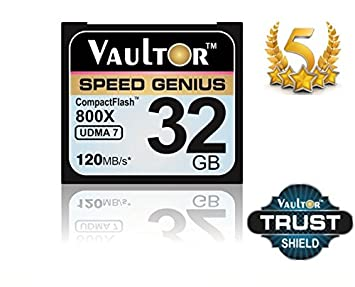 32 GB 800X VAULTOR tarjeta de memoria COMPACT FLASH ...