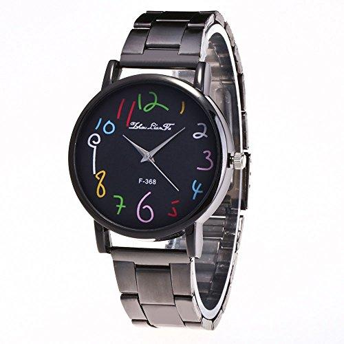 LUCA Unisex Dial Quartz Analog Watch Stainless Steel Watches Wrist Watch