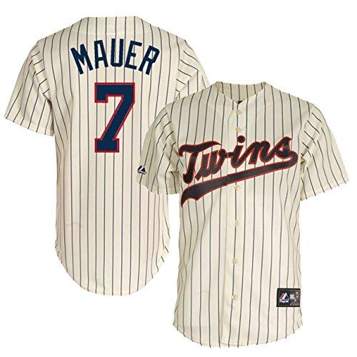 Joe Mauer Home Jersey - Majestic Joe Mauer Minnesota Twins MLB Men's Replica Alternate Home Jersey - Ivory (Size XXL)