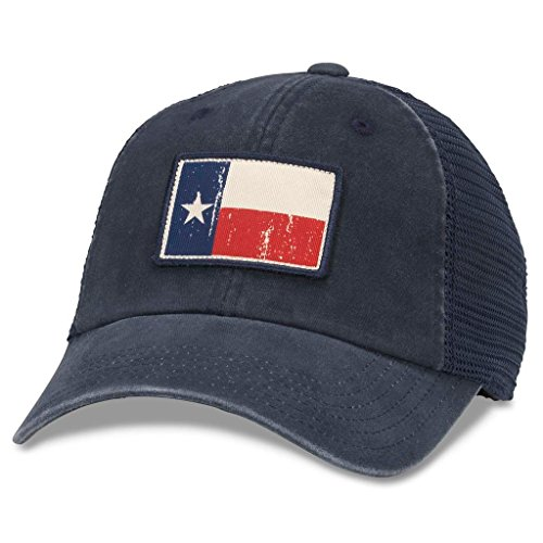 American Needle Badger Mesh Baseball Dad Hat Texas Flag, Navy (43260A-TX)