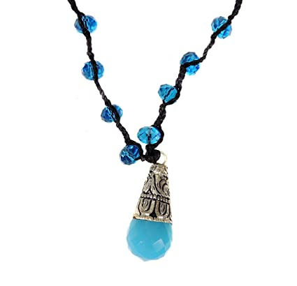 Tibetan Necklace Crystal Repoussee Adjustable