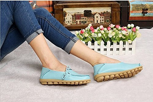 Flats Womens FAYALE Loafers Driving Shoes Shoes Blue Lace Up 6YdU6rx