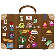 FunnyCraft Fashion Creative Sightseeing World Diy Removable Wall Stickers Laptop Guitar Suitcase Mural Decal Perfect Wall Stickers
