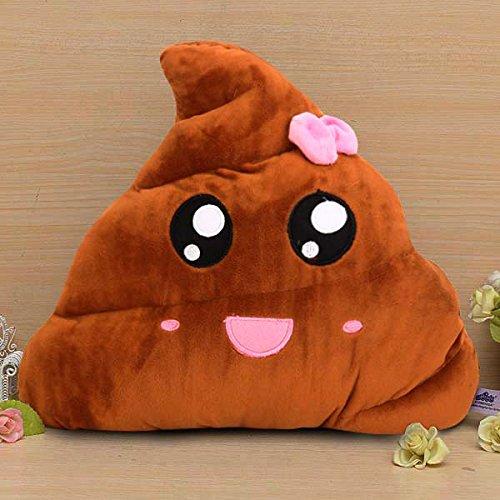 Bazar Funny Emoji caca forma bowknot de peluche manta ...
