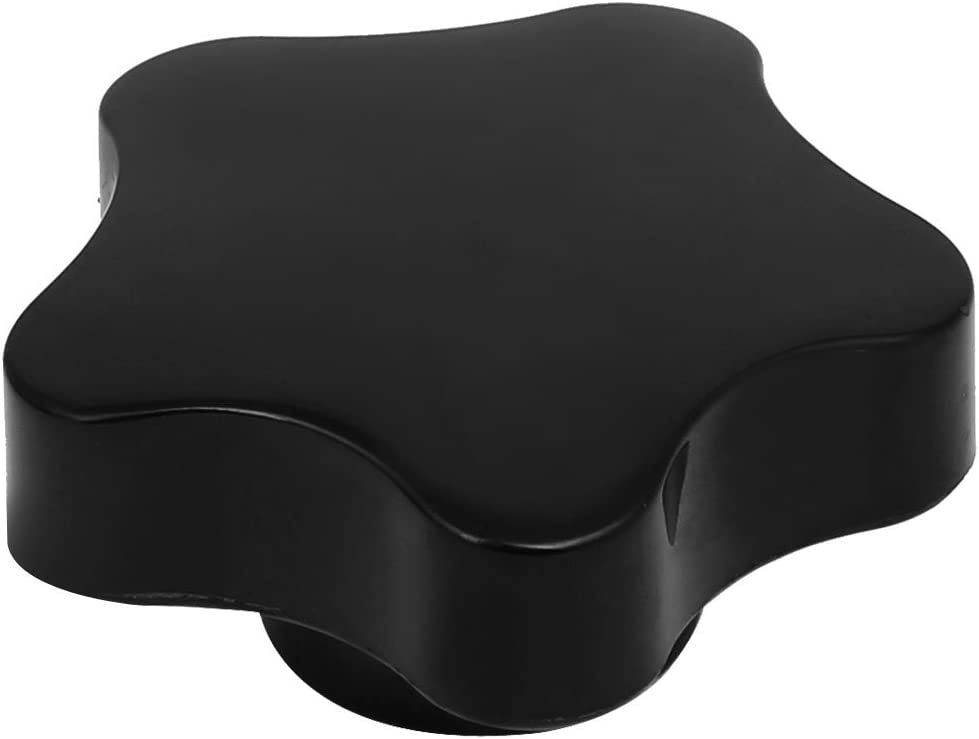 Aexit M10 Female Ball Knobs Thread 37mm Diameter Star Head Machinery Clamping Knob Male Ball Knobs Grip Black