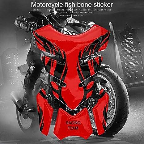 Remaxm calcomanía para Tanque de Combustible de Motocicleta, Pegatina de Motocicleta para Tanque de Combustible de Gasolina calcomanía para Kawasaki Yamaha ...