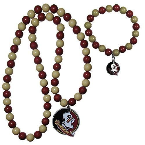 - NCAA Florida State Seminoles Fan Bead Necklace & Bracelet Set