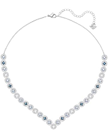 e13f8bc0d1186d Swarovski Crystal Large Multi-Colored Angelic Square Rhodium-Plated Necklace