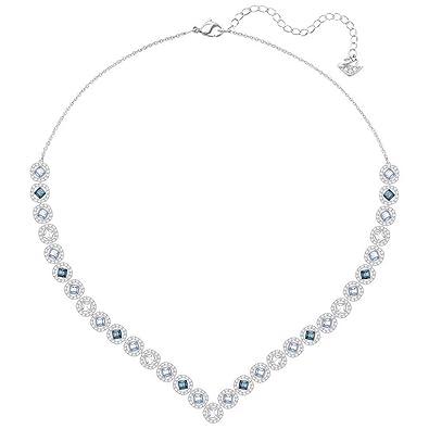 6cfa77a6429b Amazon.com  Swarovski Crystal Large Multi-Colored Angelic Square  Rhodium-Plated Necklace  Jewelry