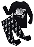 Family Feeling Space Big Boys Long Sleeve Pajamas Sets 100% Cotton Clothes Kids Pjs Size 8 Black