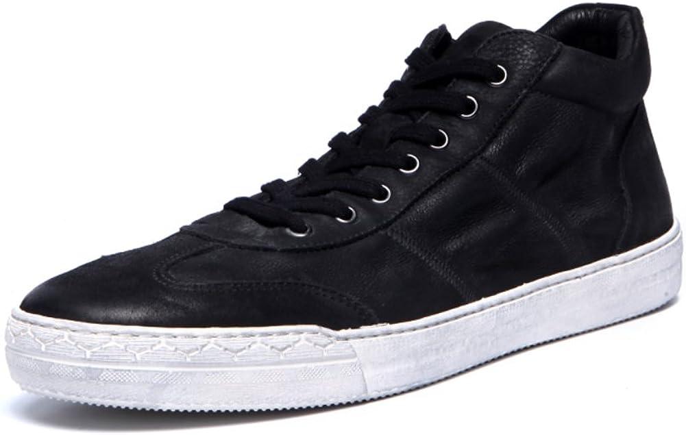 Zapatillas de Deporte de Hombre Alto – Top Moda/Genuino Cuero Alta ...