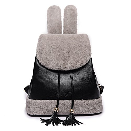 Purse Girls amp; Backpack For School Fashion Backpack Bag Shoulder Women Mini Casual Grey Leather dPA7xdq