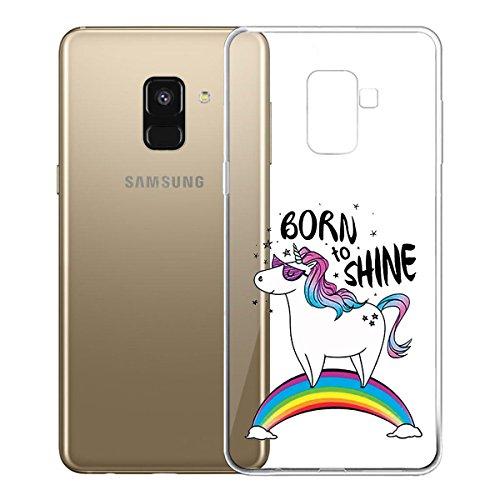 Funda para Samsung Galaxy A8 2018 (SM-A530) , IJIA Transparente Love Pony TPU Silicona Suave Cover Tapa Caso Parachoques Carcasa Cubierta para Samsung Galaxy A8 2018 (5.6) WM110