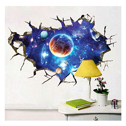 Woudery 3 Styles 9060CM Outer Space Planets Big Size 3D Dimensional Stickers Toy for Wall Cool Children Creative Stickers Bedroom 02