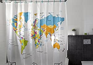 Amazing Shower Curtains - 2017 Best Quality Peva World Map Shower Curtain 70x70