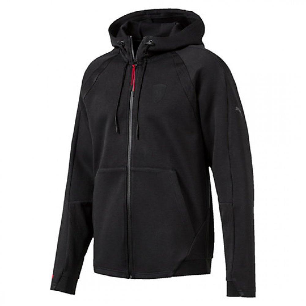 2017 Ferrari Puma Hooded Sweat Jacket (Black) B06XB48NMTBlack XL Adults