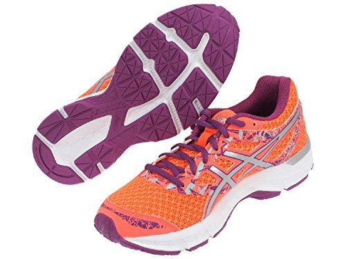 Asics Gel-excite 4 - zapatos de entrenamiento de carrera en asfalto Mujer Multicolore (Flash Coral/Silver/Orchid)