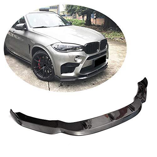 MCARCAR KIT Front Bumper Lip fits BMW X5M F85 X6M F86 SUV 2014 2015 2016 2017 2018 | Add-on Pure Carbon Fiber CF Chin Spoiler Splitter Protector ()