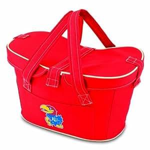 NCAA Kansas Jayhawks Mercado Insulated Cooler Basket, Red Color: Kansas Jayhawks Outdoor/Garden/Yard Maintenance (Patio & Lawn upkeep)