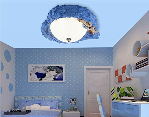 Mediterranean children's lamp kids room LED ceiling lamps warm angel girl boy eye lights lu131552py ( Size : Yellow ) by Super PP