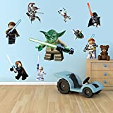 Stars Wars Sticker 3d Wall Decor Yoda Storm Troopers Skywalker Obiwan Clones Uk