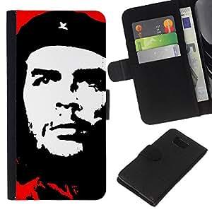 EJOY---La carpeta del tirón la caja de cuero de alta calidad de la PU Caso protector / Samsung ALPHA G850 / --Che Guevara