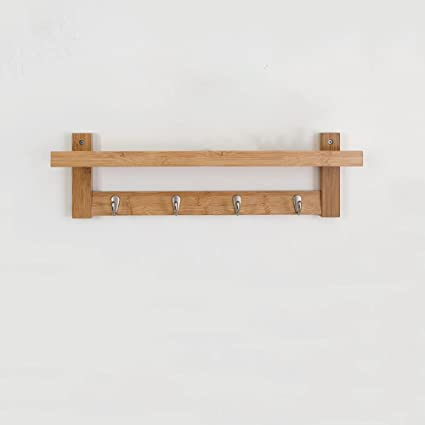 Amazon.com: CJC Coat Rack Bamboo Wall Hanging Simple ...