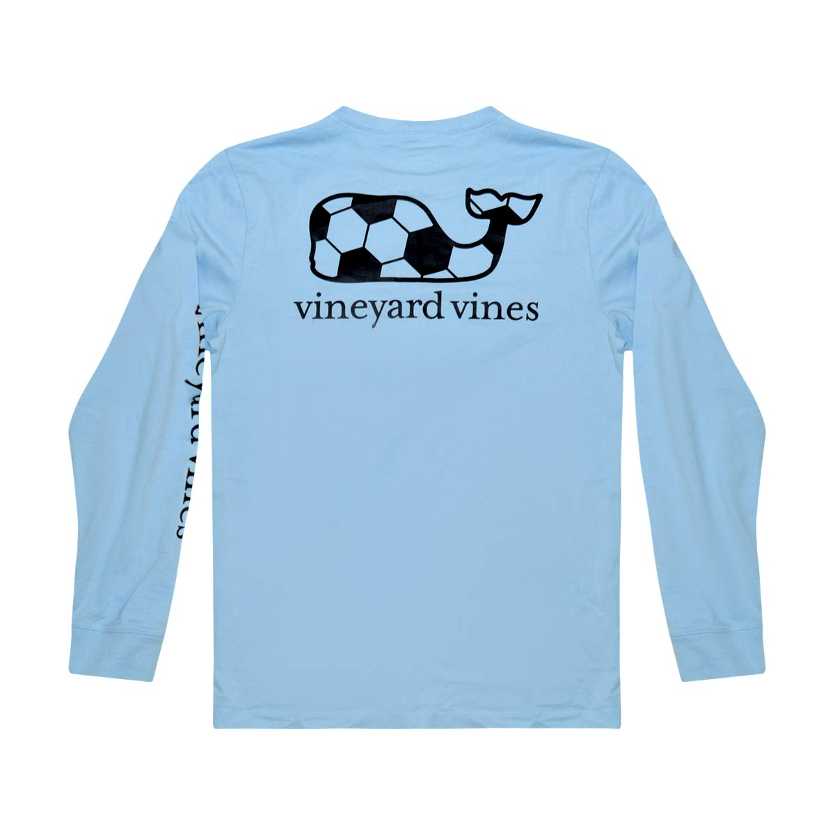 Vineyard Vines Boy's Long Sleeve Graphic Pocket Tee (Soccer Whale Fill Jake Blue, 6)
