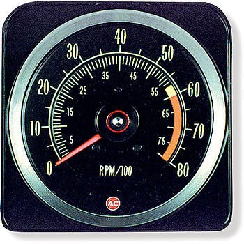 The Parts Place Chevrolet Camaro Z28 Dash Tachometer/Tach 6000 Redline - 8000 ()