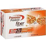 Premier Protein Fiber Bar, Peanut Butter Caramel, 1.83 oz Bar, (6 Count)