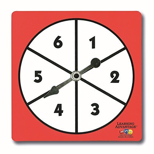 1-6 Number Spnners, Set of 5