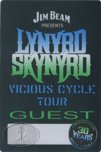 Lynyrd Skynyrd 2003 Vicious Cycle Backstage Pass Guest