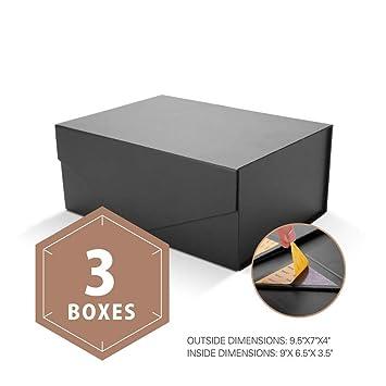 Amazon.com: PACKHOME Cajas de Regalo Rectangular 9,5x7x4 ...