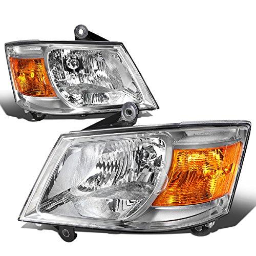 For Grand Caravan 5th Gen Pair of Chrome Housing Amber Corner Headlights Lamp ()